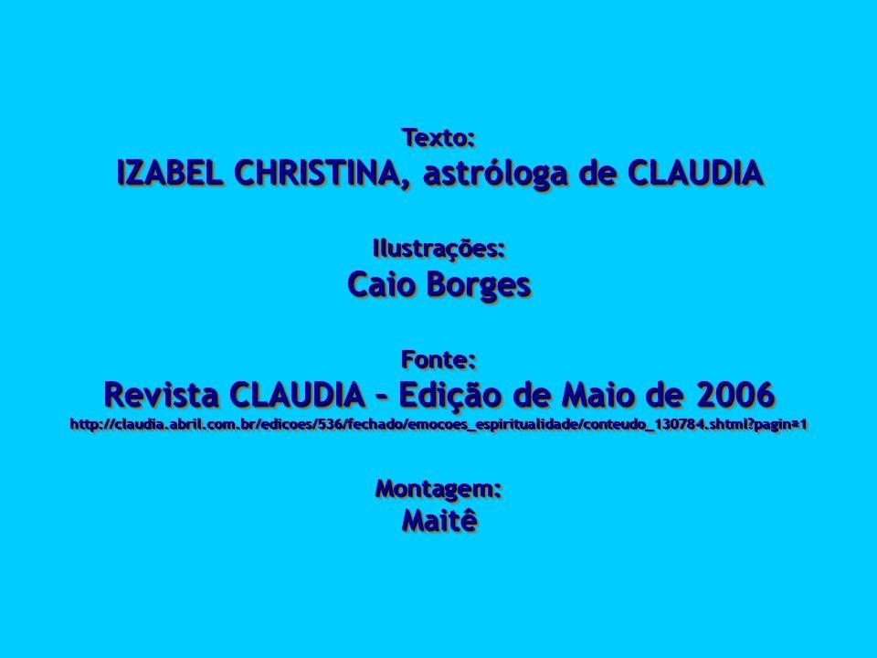 IZABEL CHRISTINA, astróloga de CLAUDIA