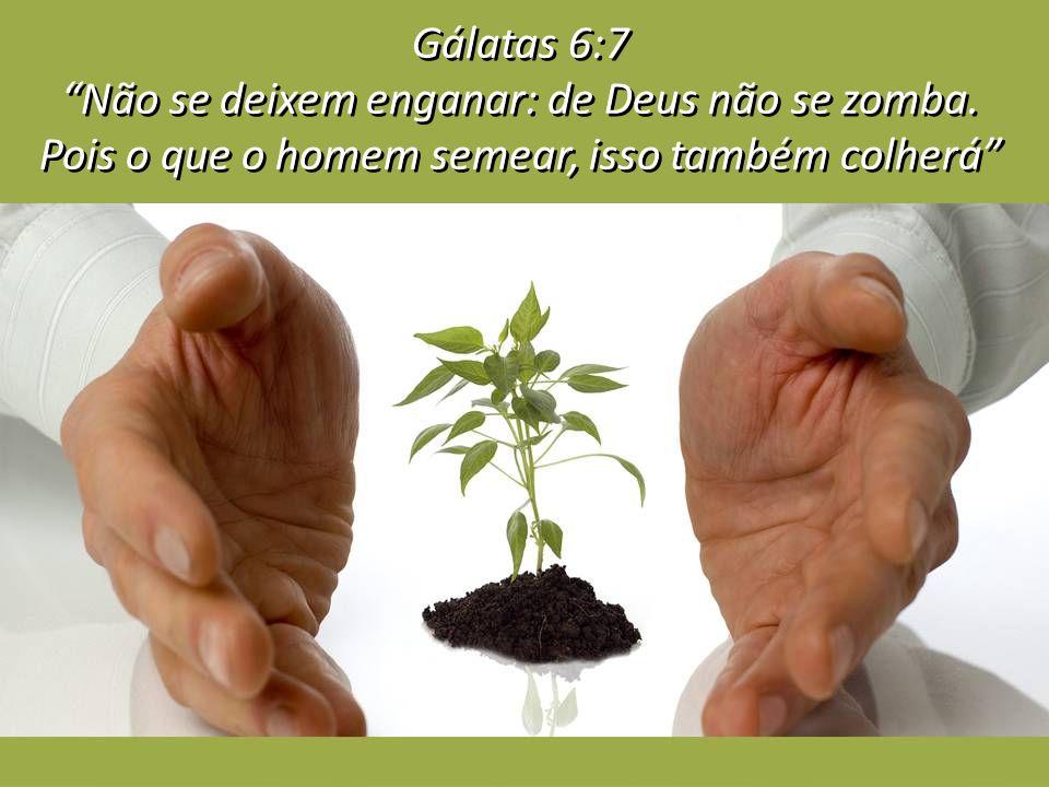 Gálatas 6:7 Não se deixem enganar: de Deus não se zomba.