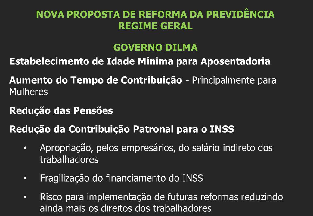 NOVA PROPOSTA DE REFORMA DA PREVIDÊNCIA REGIME GERAL