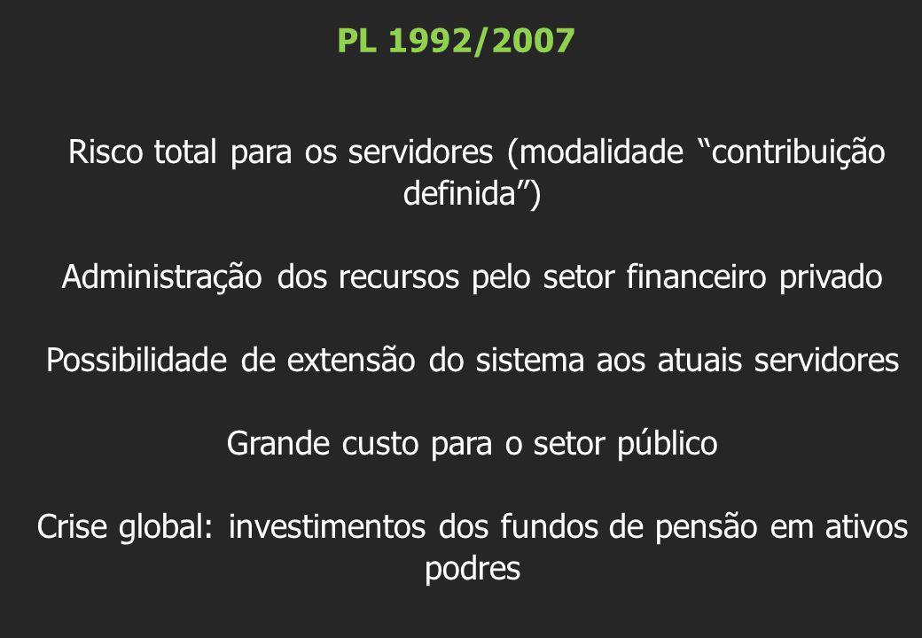 Administração dos recursos pelo setor financeiro privado