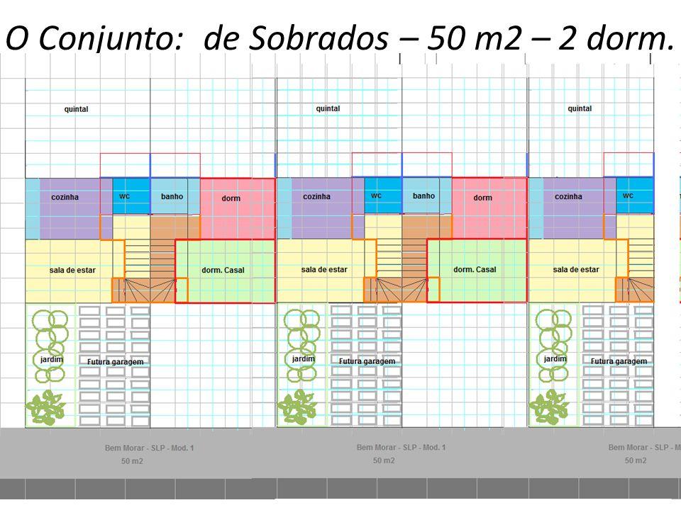 O Conjunto: de Sobrados – 50 m2 – 2 dorm.