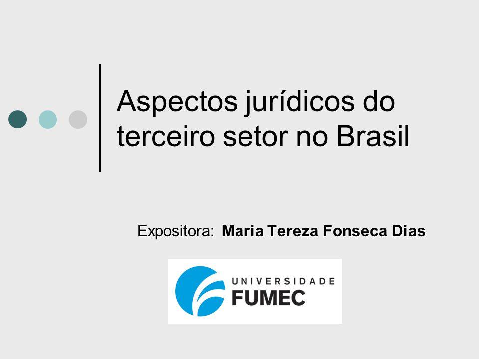 Aspectos jurídicos do terceiro setor no Brasil