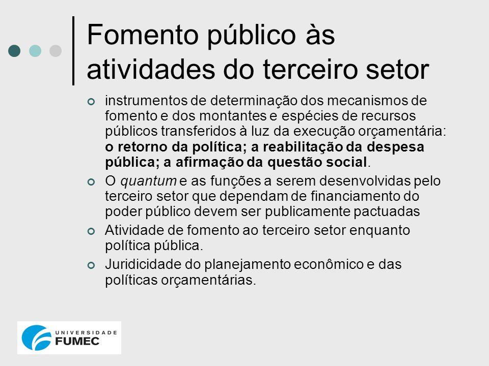 Fomento público às atividades do terceiro setor