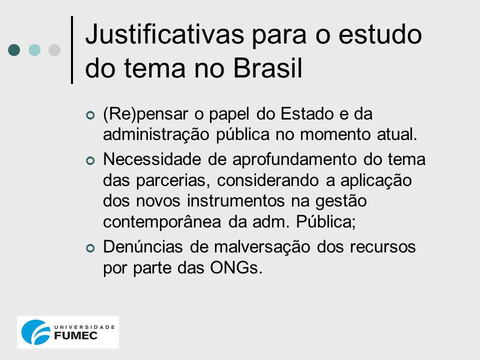 Justificativas para o estudo do tema no Brasil