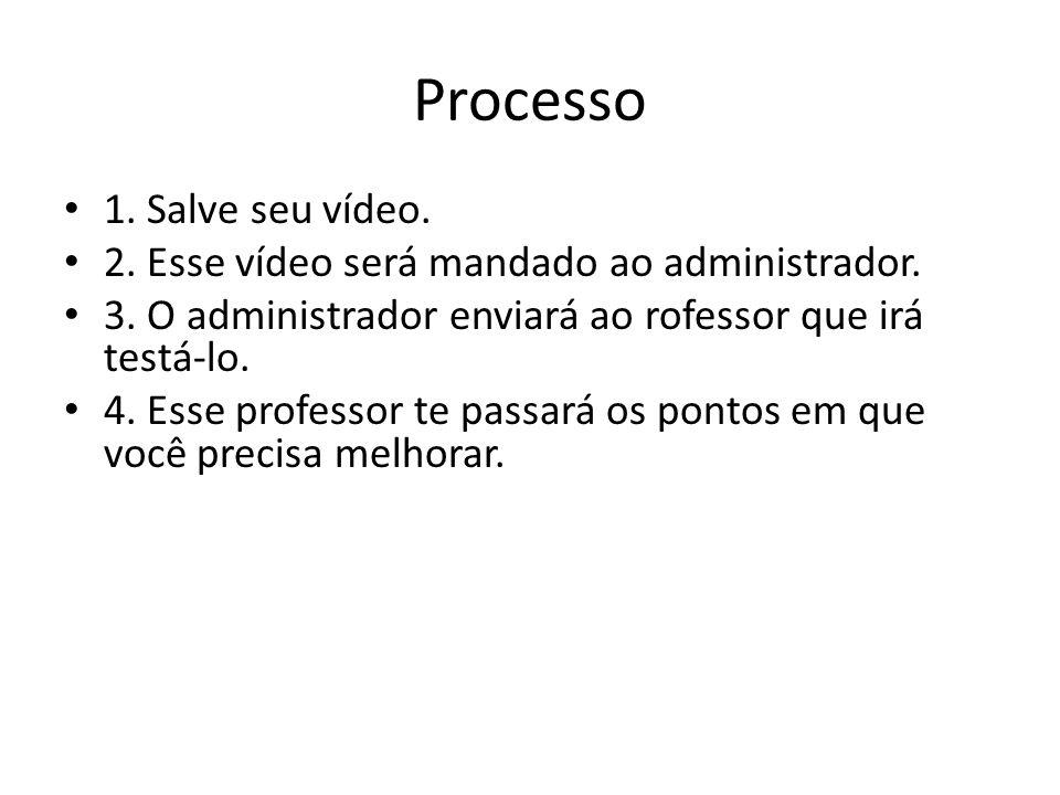 Processo 1. Salve seu vídeo.