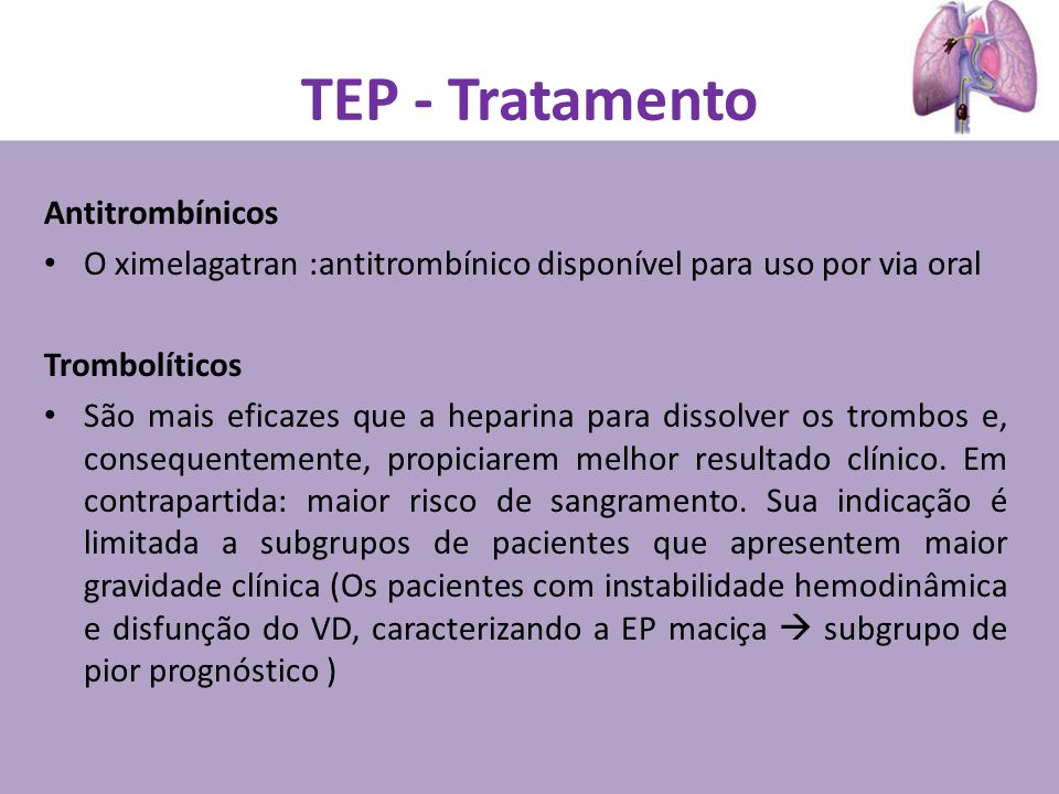 TEP - Tratamento Antitrombínicos