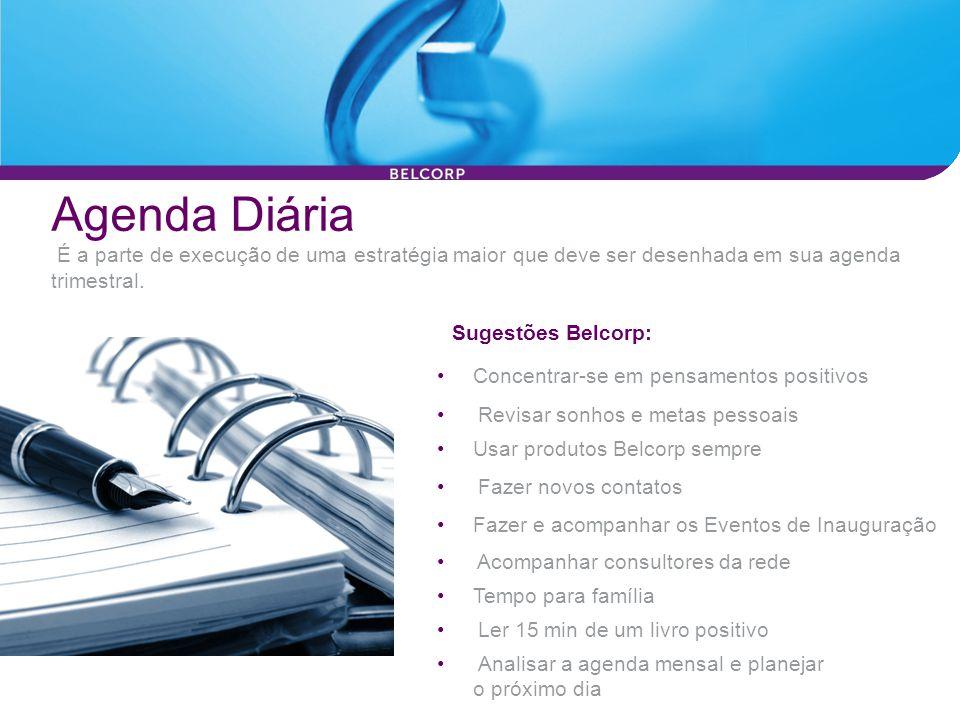 Agenda Diária É a parte de execução de uma estratégia maior que deve ser desenhada em sua agenda trimestral.