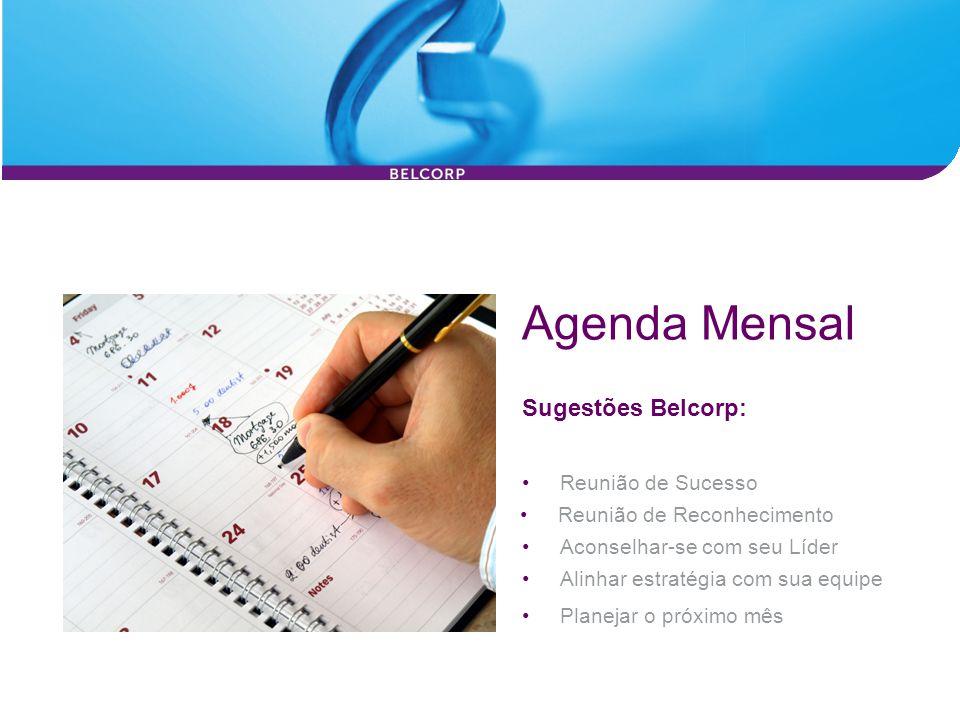 Agenda Mensal Sugestões Belcorp: Reunião de Sucesso