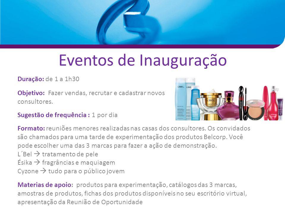 Eventos de Inauguração