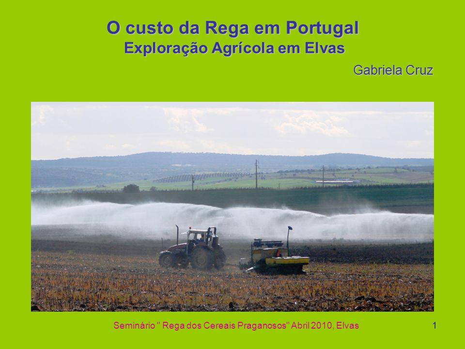 O custo da Rega em Portugal Exploração Agrícola em Elvas Gabriela Cruz
