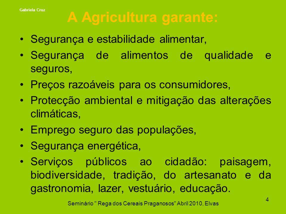 A Agricultura garante: