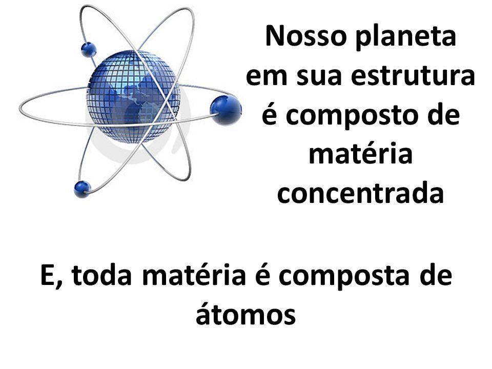Nosso planeta em sua estrutura é composto de matéria concentrada