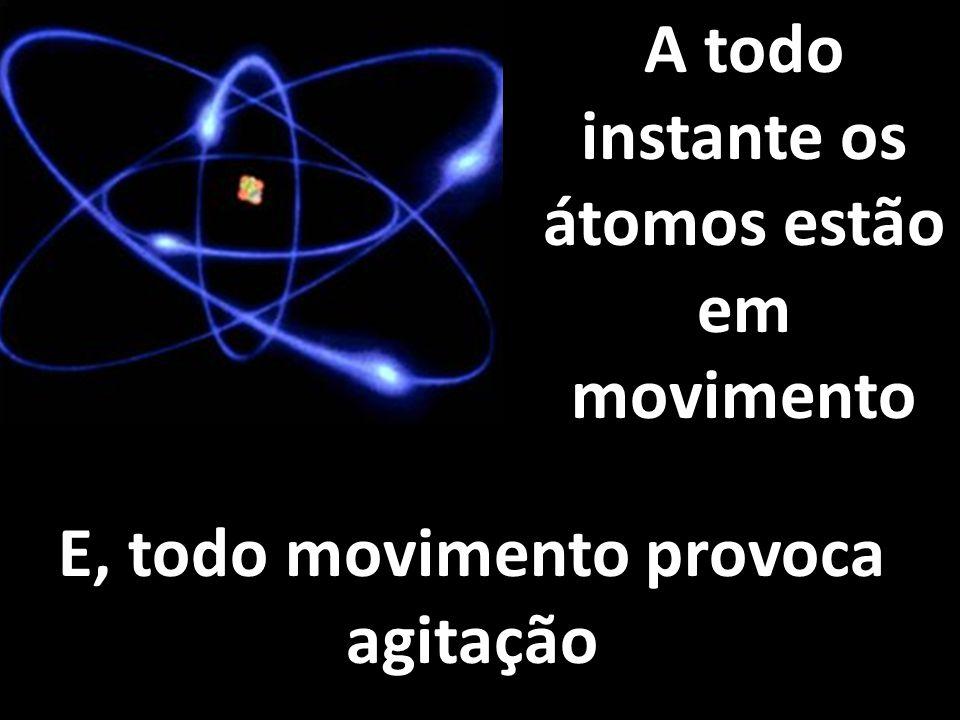 A todo instante os átomos estão em movimento