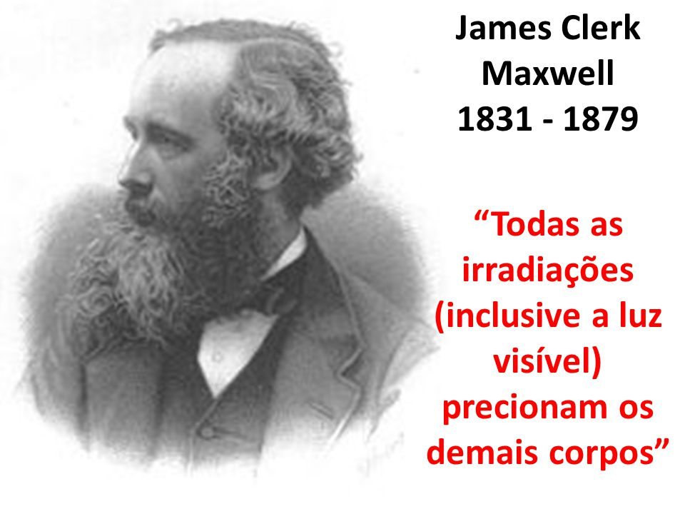 James Clerk Maxwell 1831 - 1879.