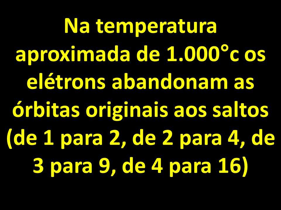Na temperatura aproximada de 1