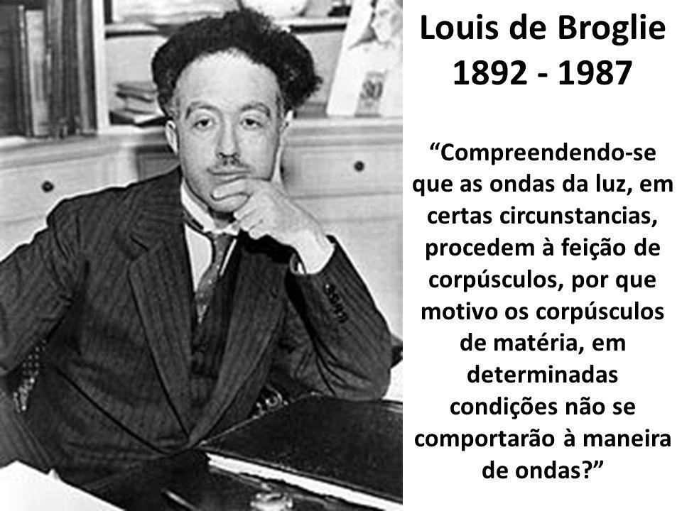Louis de Broglie 1892 - 1987.