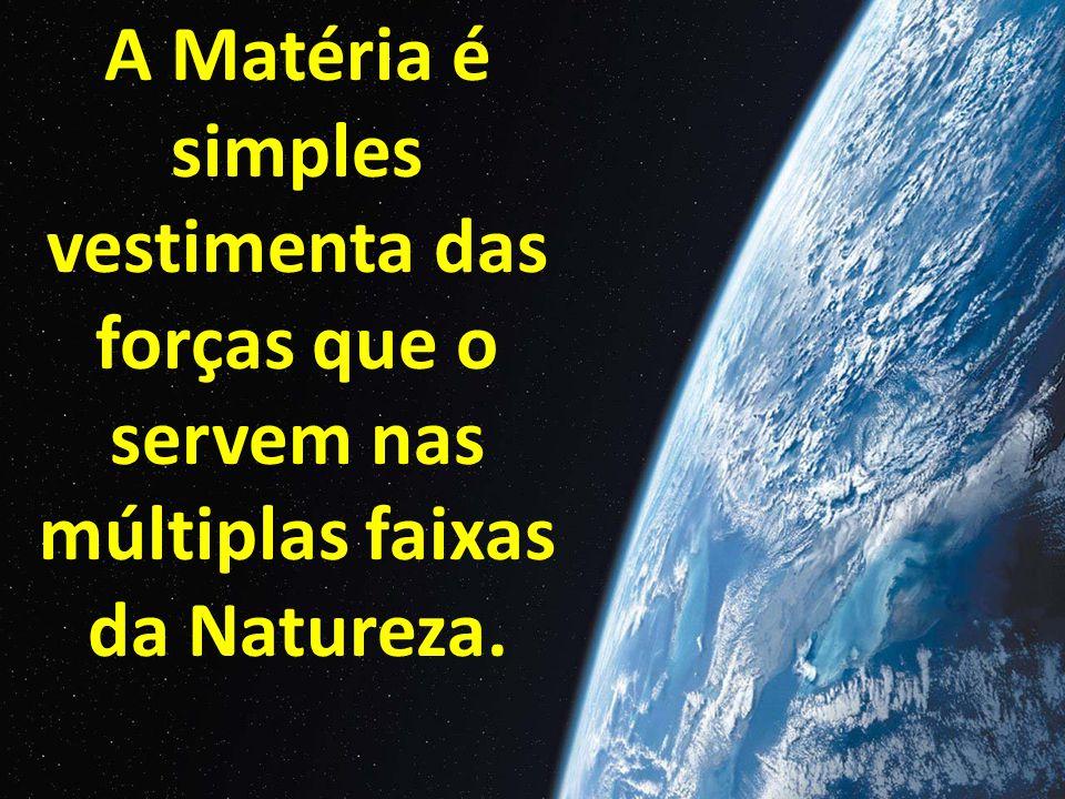 A Matéria é simples vestimenta das forças que o servem nas múltiplas faixas da Natureza.