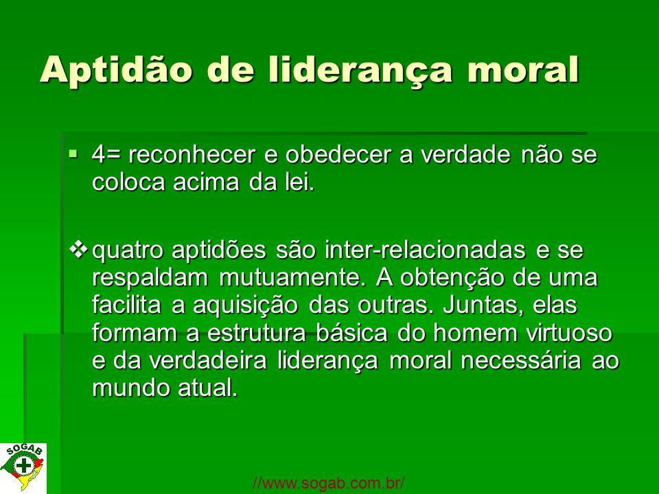 Aptidão de liderança moral