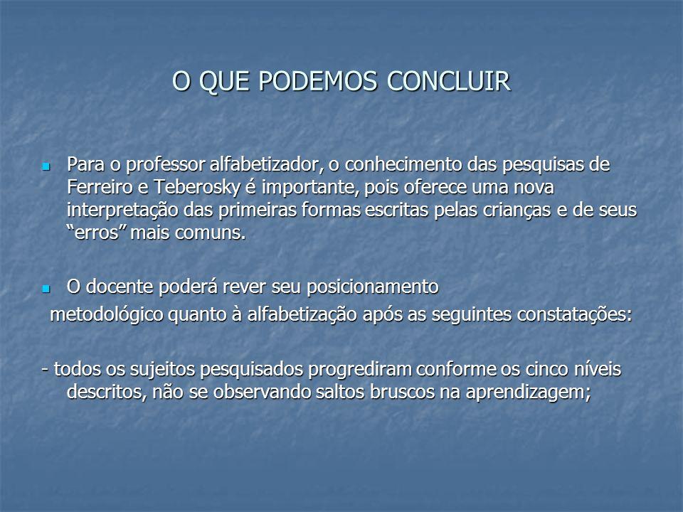 metodológico quanto à alfabetização após as seguintes constatações: