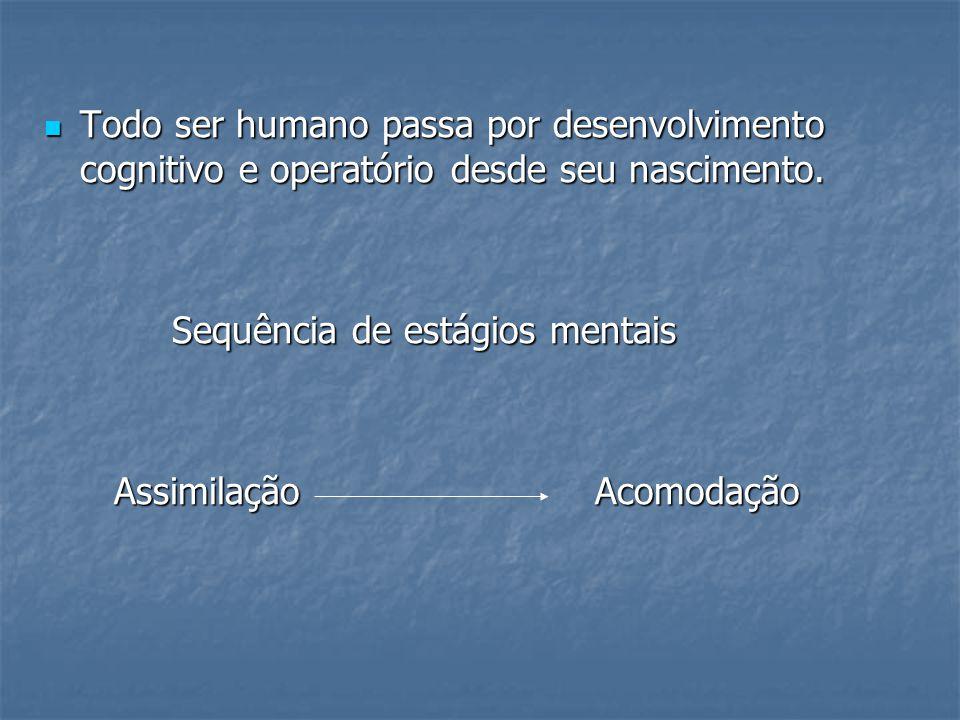 Todo ser humano passa por desenvolvimento cognitivo e operatório desde seu nascimento.