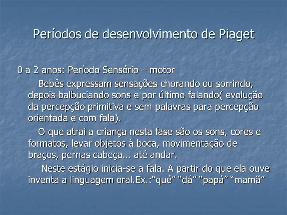 Períodos de desenvolvimento de Piaget