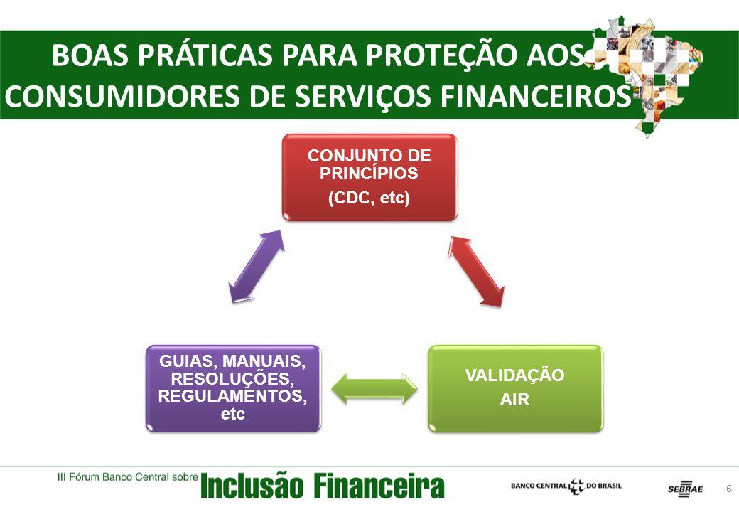 BOAS PRÁTICAS PARA PROTEÇÃO AOS CONSUMIDORES DE SERVIÇOS FINANCEIROS