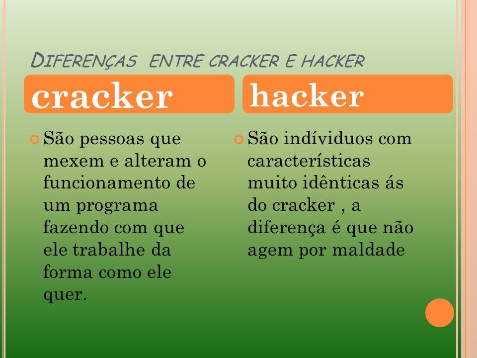 Diferenças entre cracker e hacker