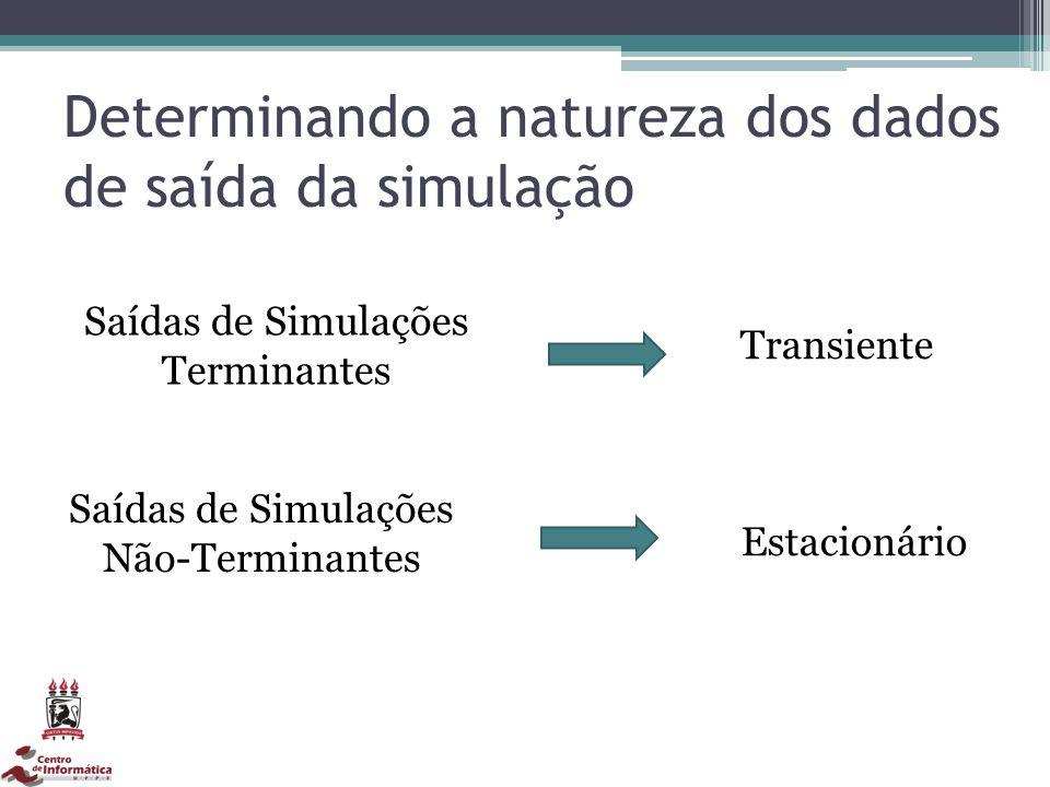 Determinando a natureza dos dados de saída da simulação