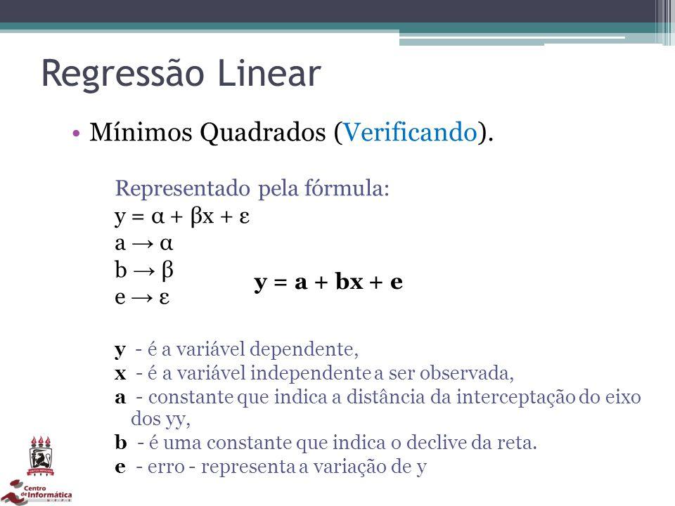 Regressão Linear Mínimos Quadrados (Verificando).