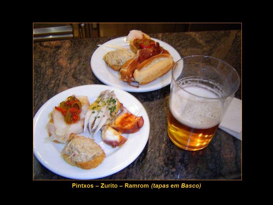 Pintxos – Zurito – Ramrom (tapas em Basco)