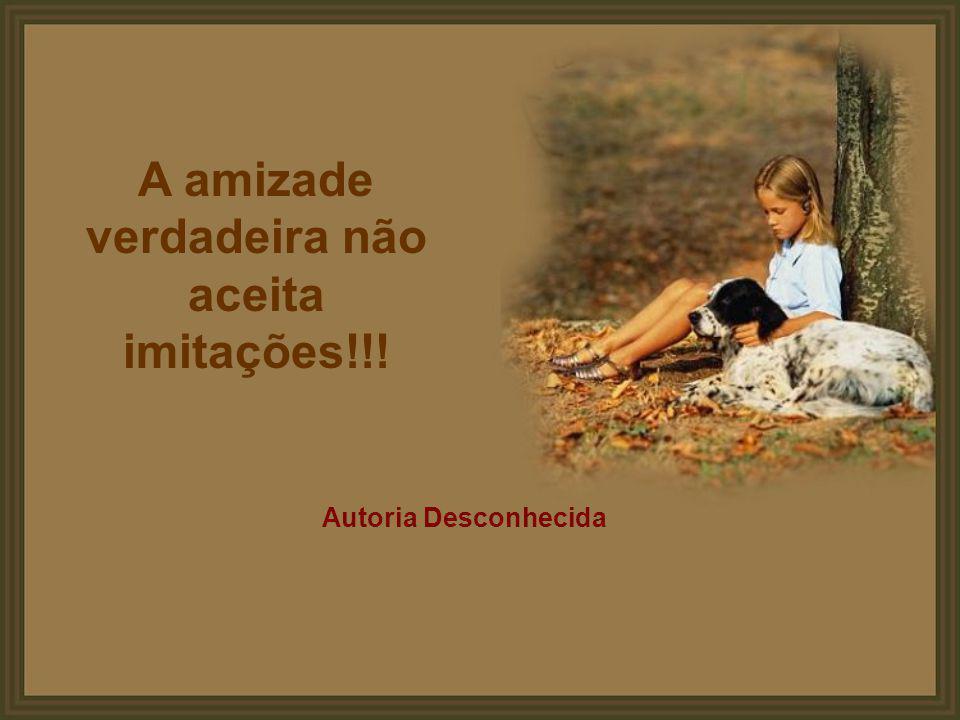 A amizade verdadeira não aceita imitações!!!