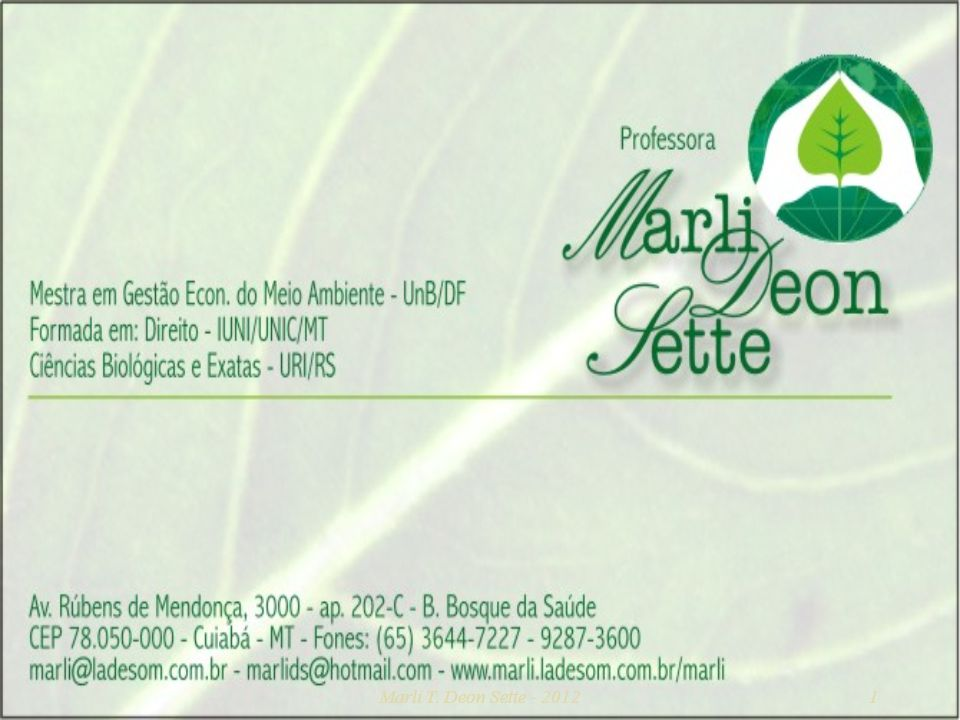 Marli T. Deon Sette - 2012