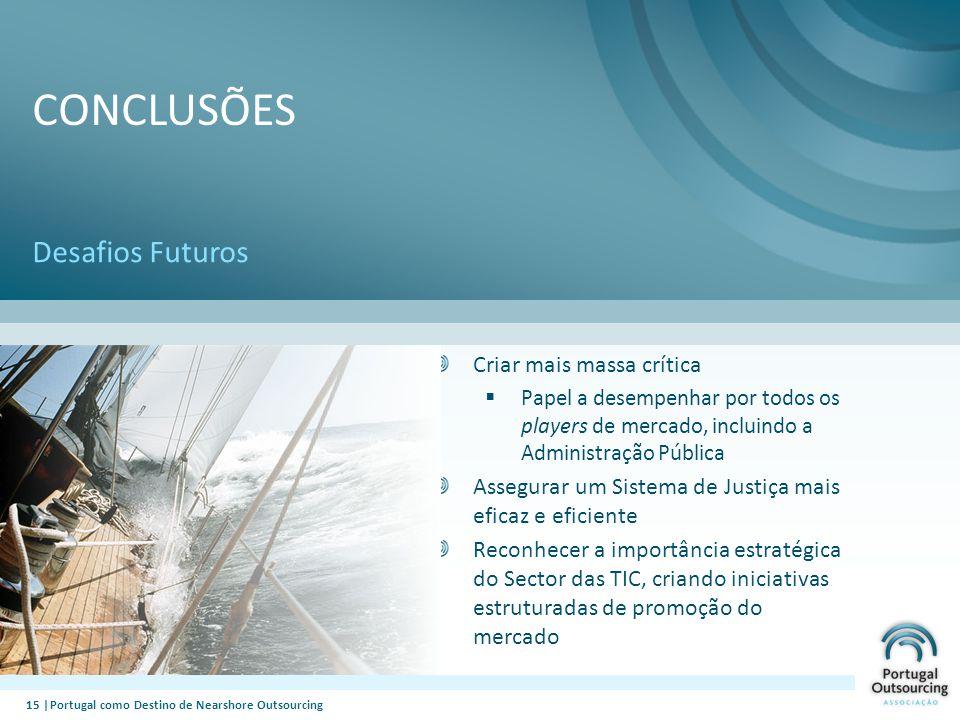 Conclusões Desafios Futuros Criar mais massa crítica