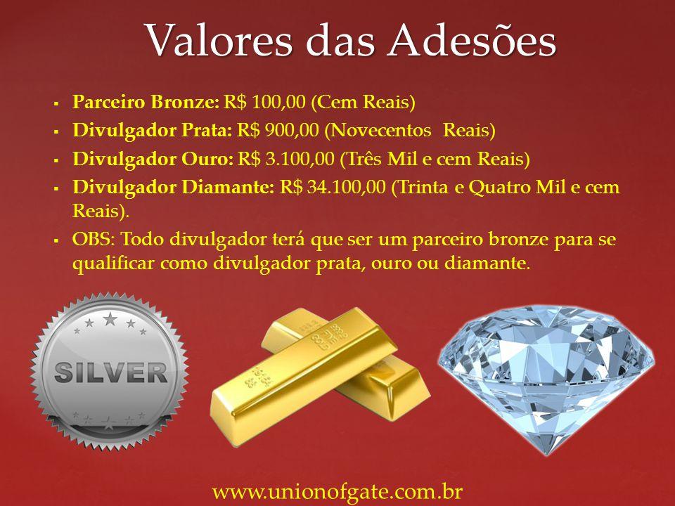 Valores das Adesões www.unionofgate.com.br