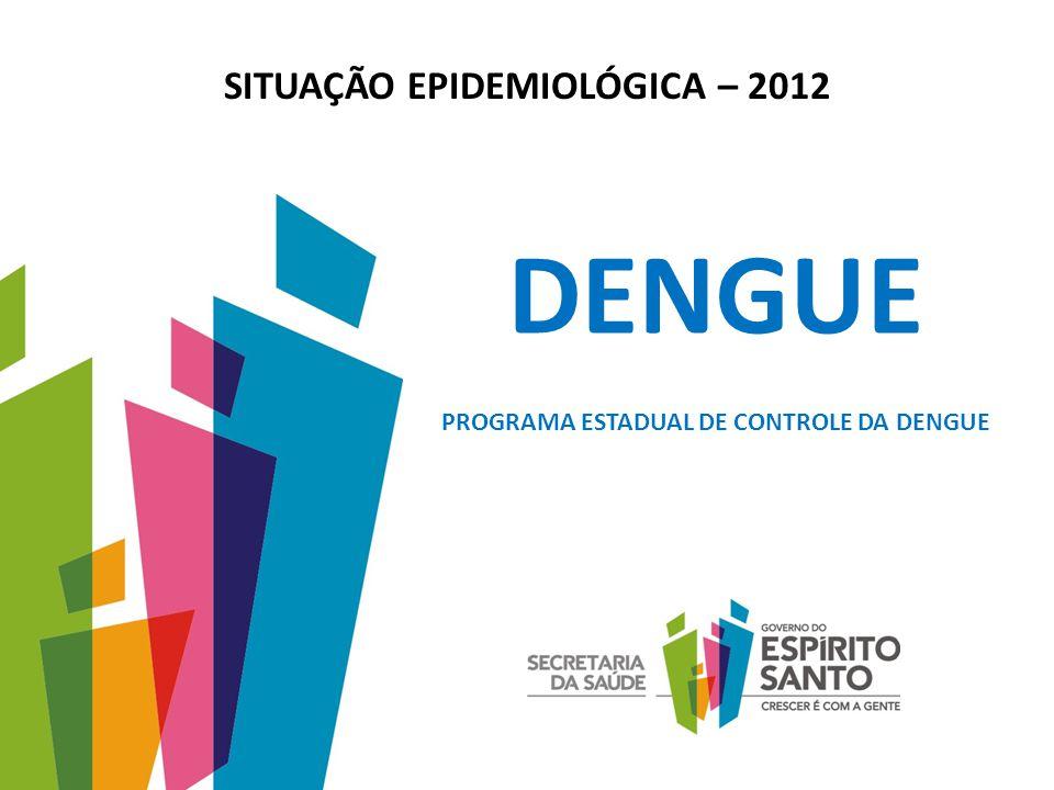 SITUAÇÃO EPIDEMIOLÓGICA – 2012 PROGRAMA ESTADUAL DE CONTROLE DA DENGUE