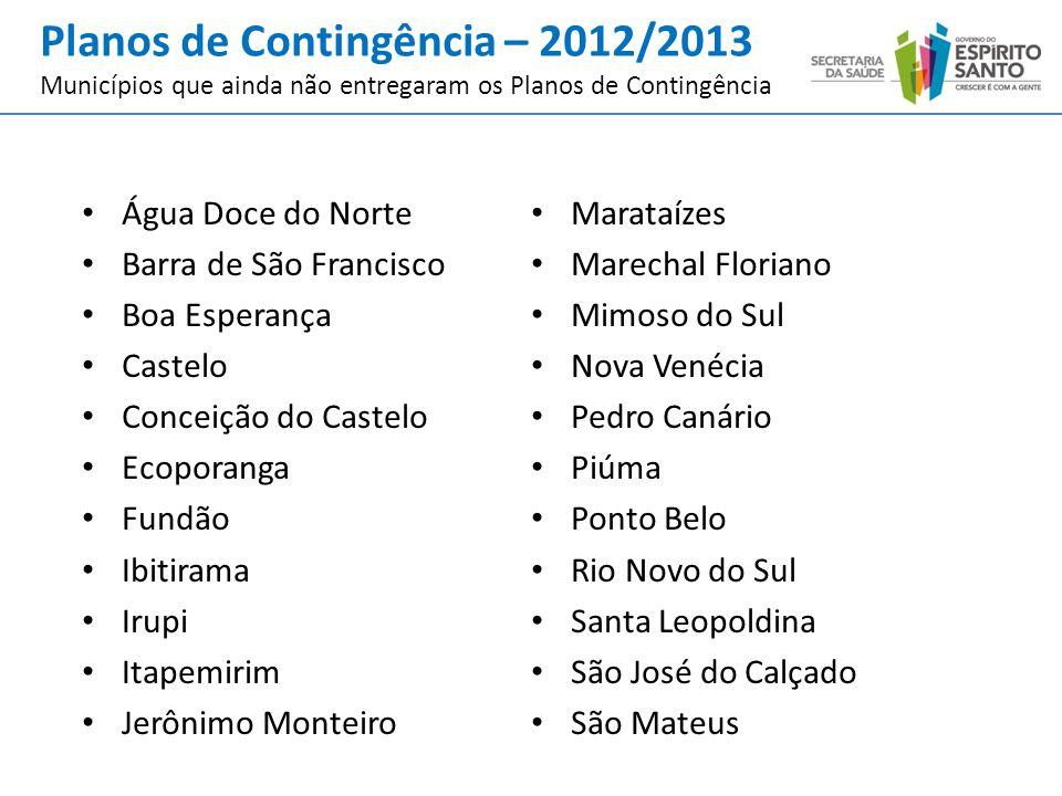 Planos de Contingência – 2012/2013