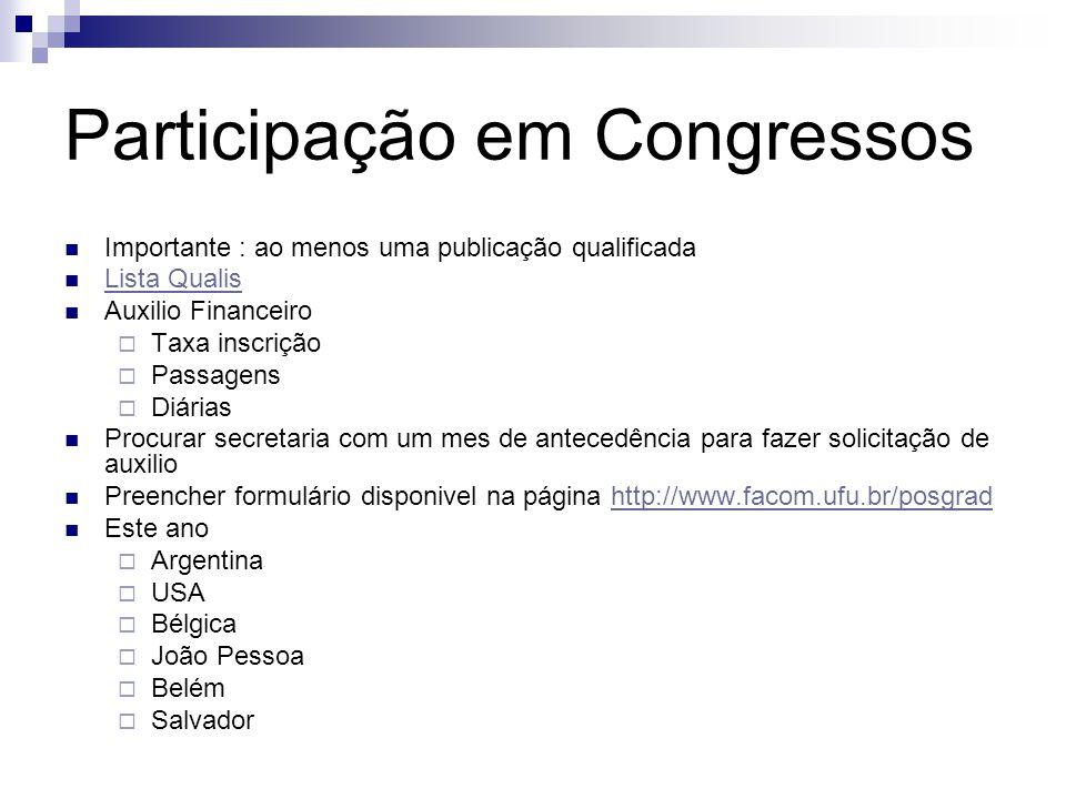 Participação em Congressos