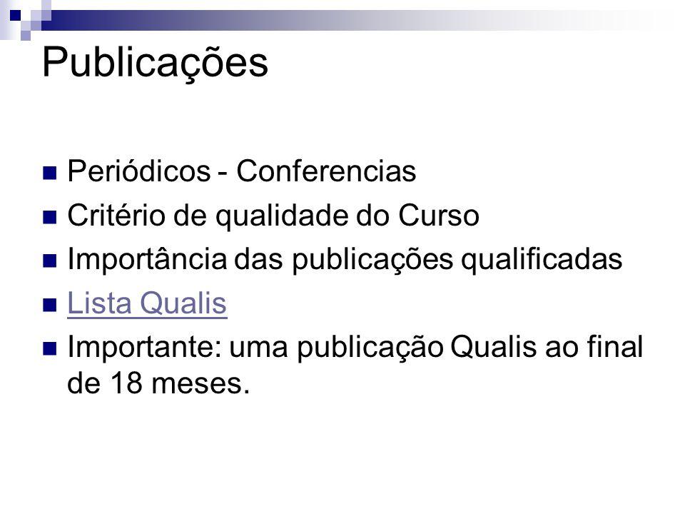 Publicações Periódicos - Conferencias Critério de qualidade do Curso