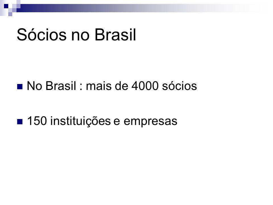 Sócios no Brasil No Brasil : mais de 4000 sócios