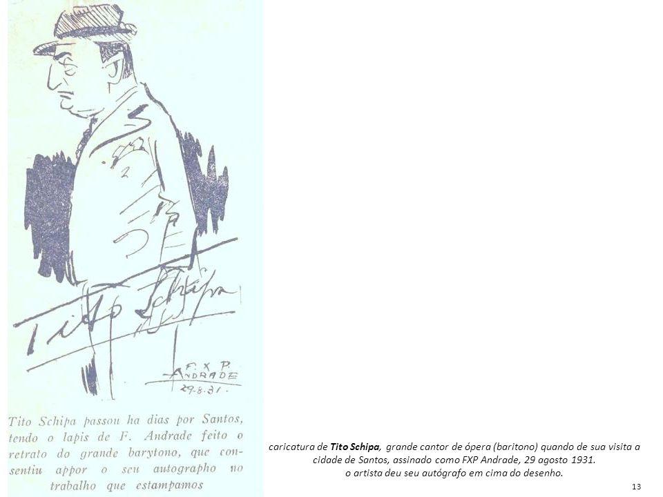 o artista deu seu autógrafo em cima do desenho.