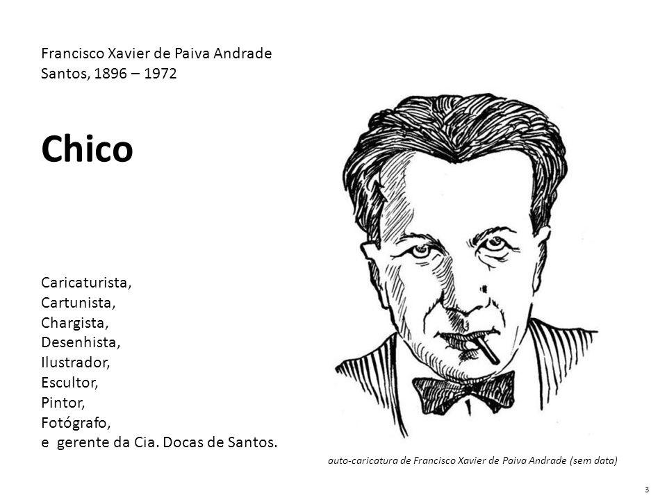 auto-caricatura de Francisco Xavier de Paiva Andrade (sem data)