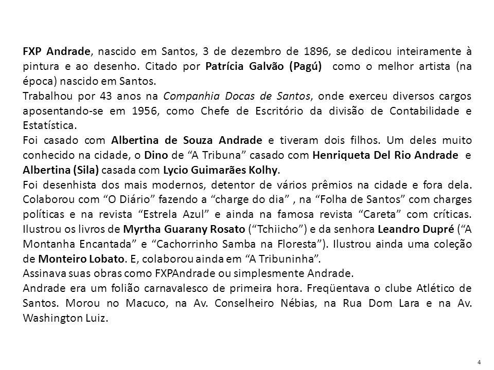 Assinava suas obras como FXPAndrade ou simplesmente Andrade.