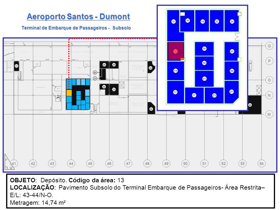 Terminal de Embarque de Passageiros - Subsolo