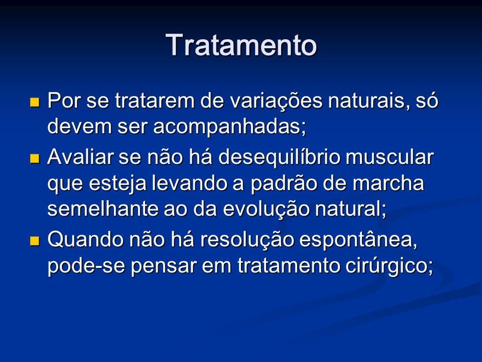 Tratamento Por se tratarem de variações naturais, só devem ser acompanhadas;