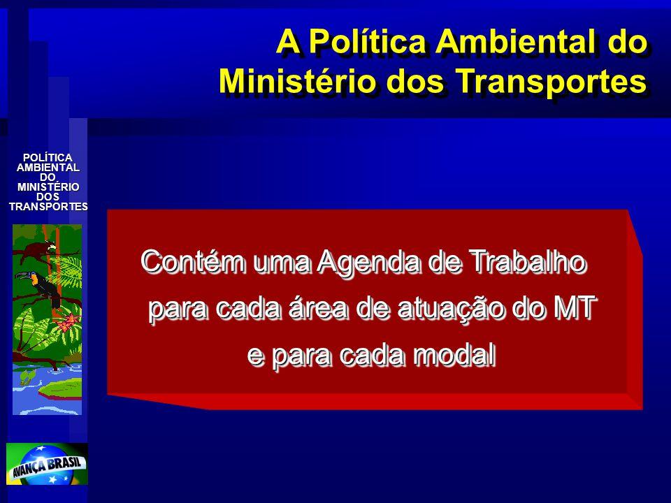 A Política Ambiental do Ministério dos Transportes