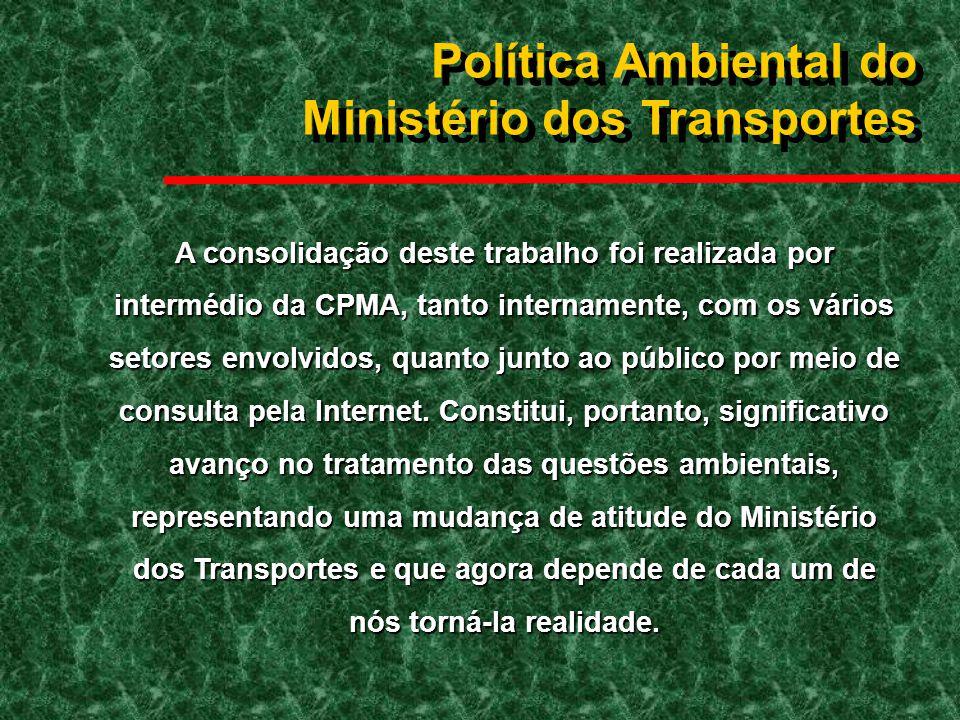 Política Ambiental do Ministério dos Transportes