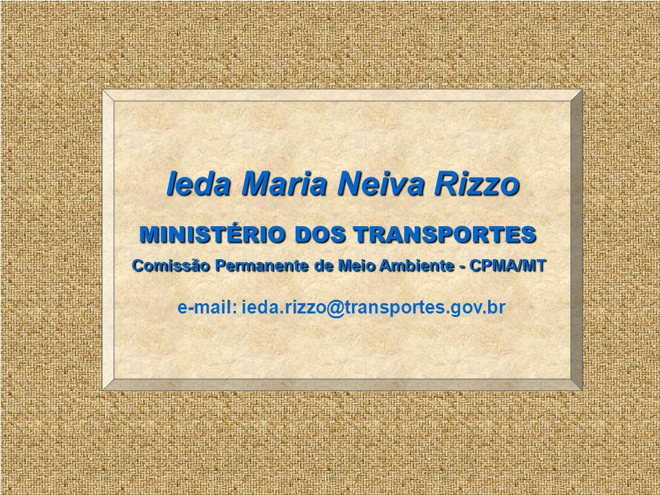 Ieda Maria Neiva Rizzo MINISTÉRIO DOS TRANSPORTES