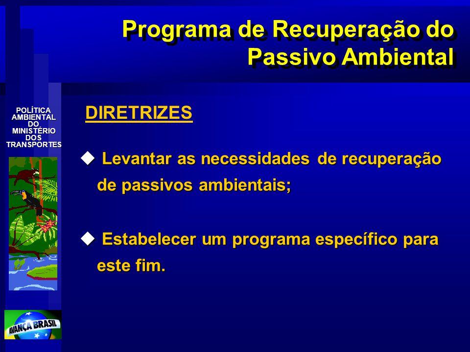 Programa de Recuperação do Passivo Ambiental