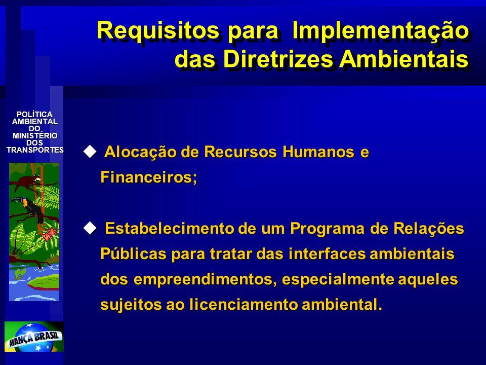 Requisitos para Implementação das Diretrizes Ambientais