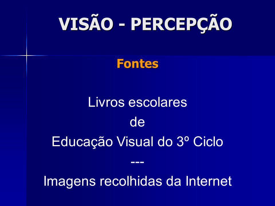 VISÃO - PERCEPÇÃO Livros escolares de Educação Visual do 3º Ciclo ---